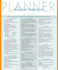 10 day of wedding coordinator checklist gcsemaths revision  wedding wedding day checklist template excel