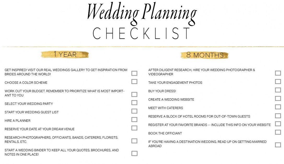 11 free printable wedding planning checklists wedding day checklist template examples