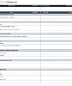 30 free task and checklist templates  smartsheet weekly checklist template excel doc