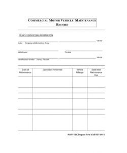 40 printable vehicle maintenance log templates ᐅ template lab fleet vehicle maintenance checklist template