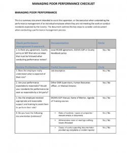 9 performance management checklist examples  examples employee performance checklist template samples