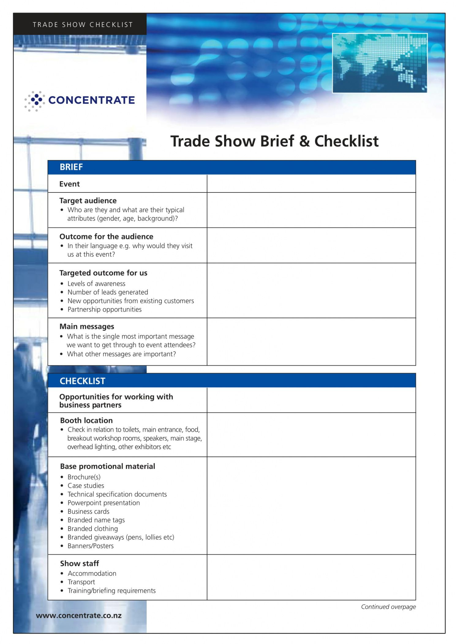 9 trade show checklist examples  pdf  examples trade show checklist template examples