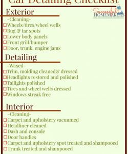 auto detailing checklist printable 546412 detailer resume auto detailing checklist template examples
