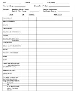 automotive service checklist template samples form pin by lone wolf auto service checklist template pdf