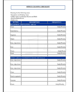 business cleaning checklist template new fice cleaning checklist cleaning services checklist template doc