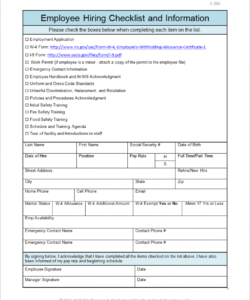checklist template samples new mployee for it department california it new hire checklist template doc