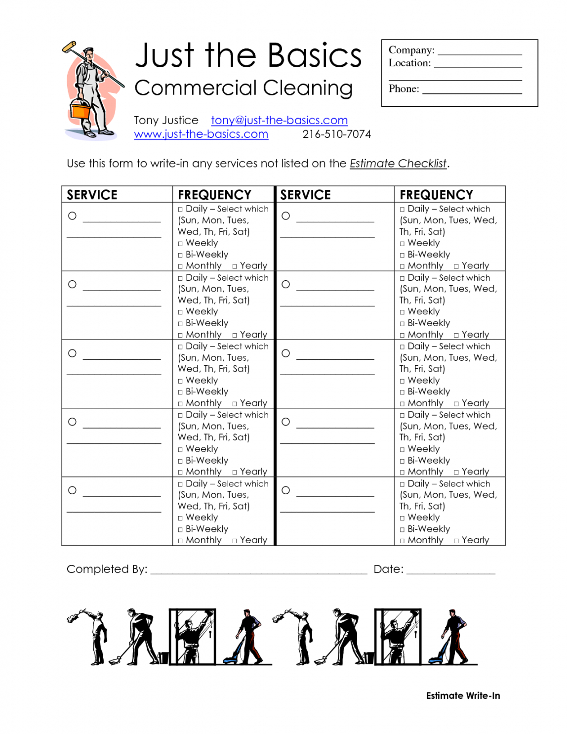 commercial cleaning checklist printable  diy cleaning supplies janitorial cleaning checklist template doc