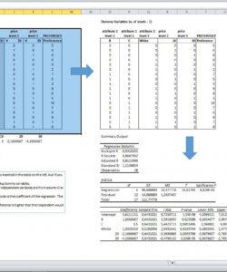 conjoint analysis excel template  eloquens market share analysis template excel
