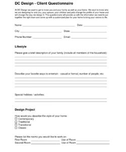 dc design  client questionnaire  eleven one interiors  interior interior design checklist template examples