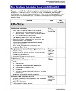 editable 10 new employee orientation checklist examples  pdf word  examples orientation checklist template for new employee excel