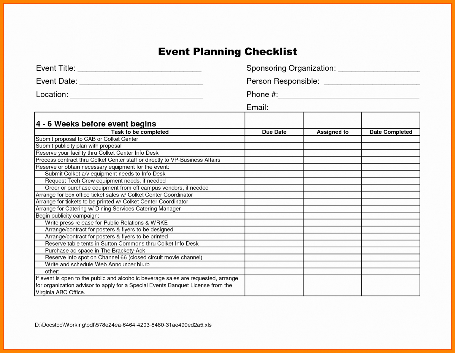 editable 20 event planning business plan template free  guiaubuntupt event management checklist template