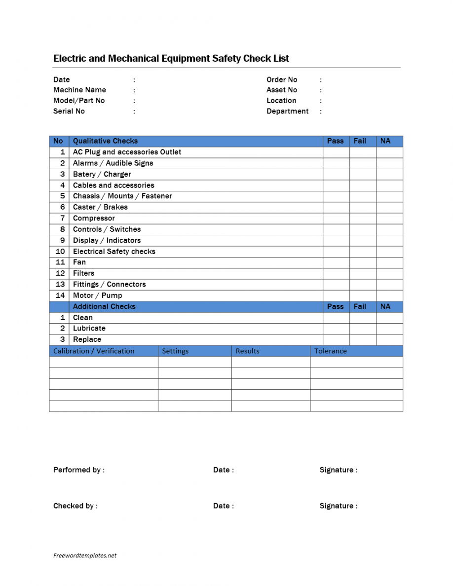editable 25 images of equipment inspection safety audit template  zeept equipment commissioning checklist template