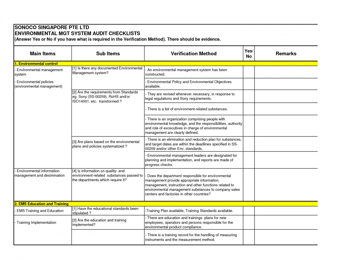 Editable 5S Audit Checklist Excel Template Qms Ple Free