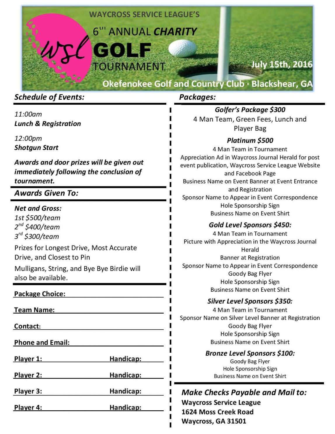 editable charity golf rnament planning checklist we will having our 6th golf tournament checklist template excel
