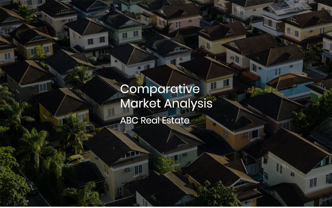 editable comparative market analysis template pdf & ppt download  slidebean home market analysis template example