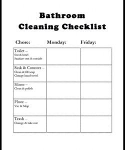 editable diy bathroom cleaning checklist gazing in restroom template excel commercial bathroom cleaning checklist template samples