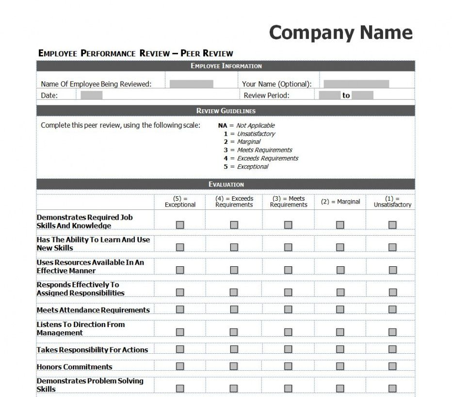 editable employee performance review checklist employee performance checklist template examples