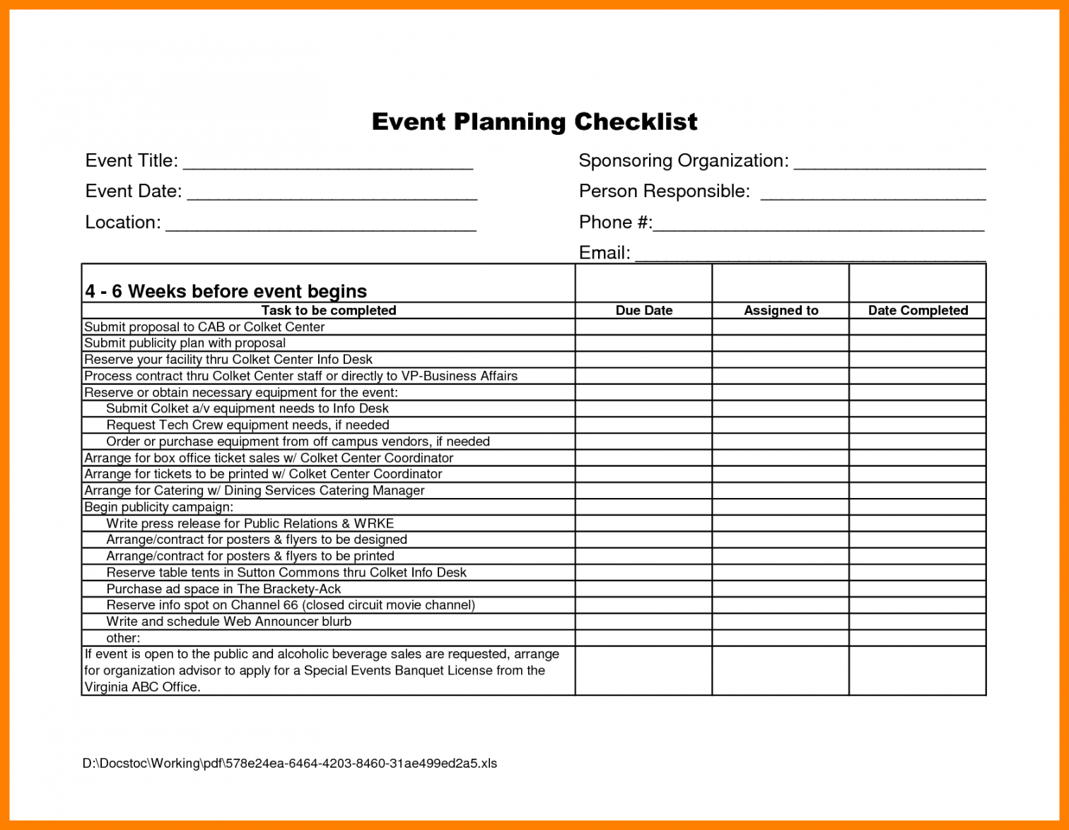 editable event planner template free  captaincicerosco corporate event checklist template samples