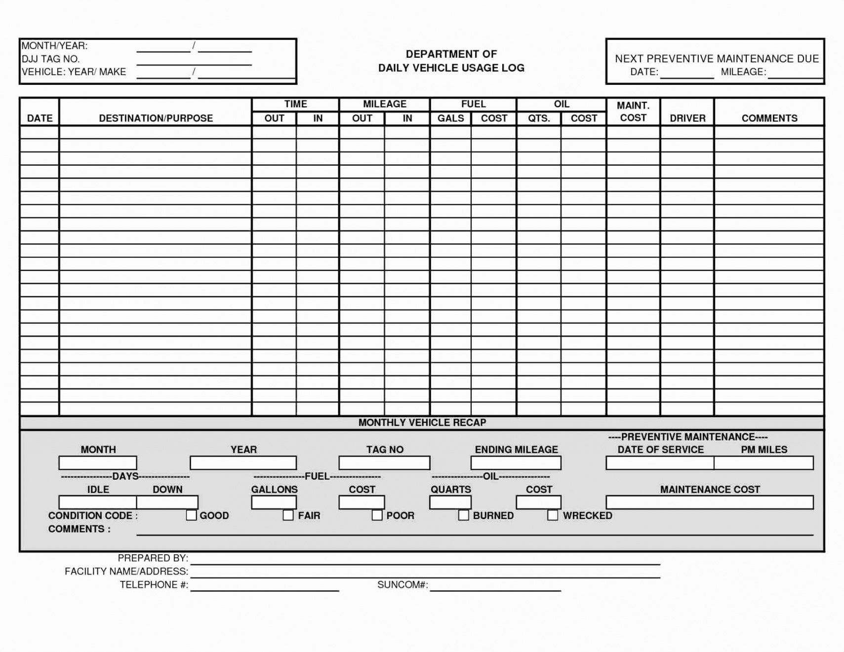editable fleet checklist template samples vehicle ent spreadsheet the library fleet vehicle checklist template doc