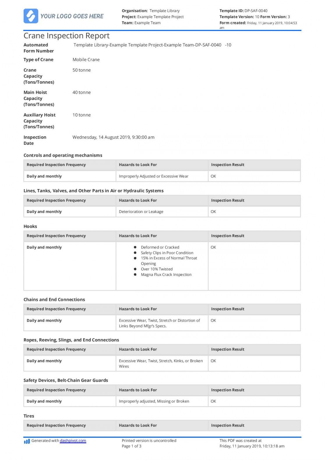editable free crane inspection checklist template better than pdf and word doc crane inspection checklist template doc