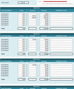 editable free food cost analysis spreadsheet and costing sheet template excel food cost analysis template excel