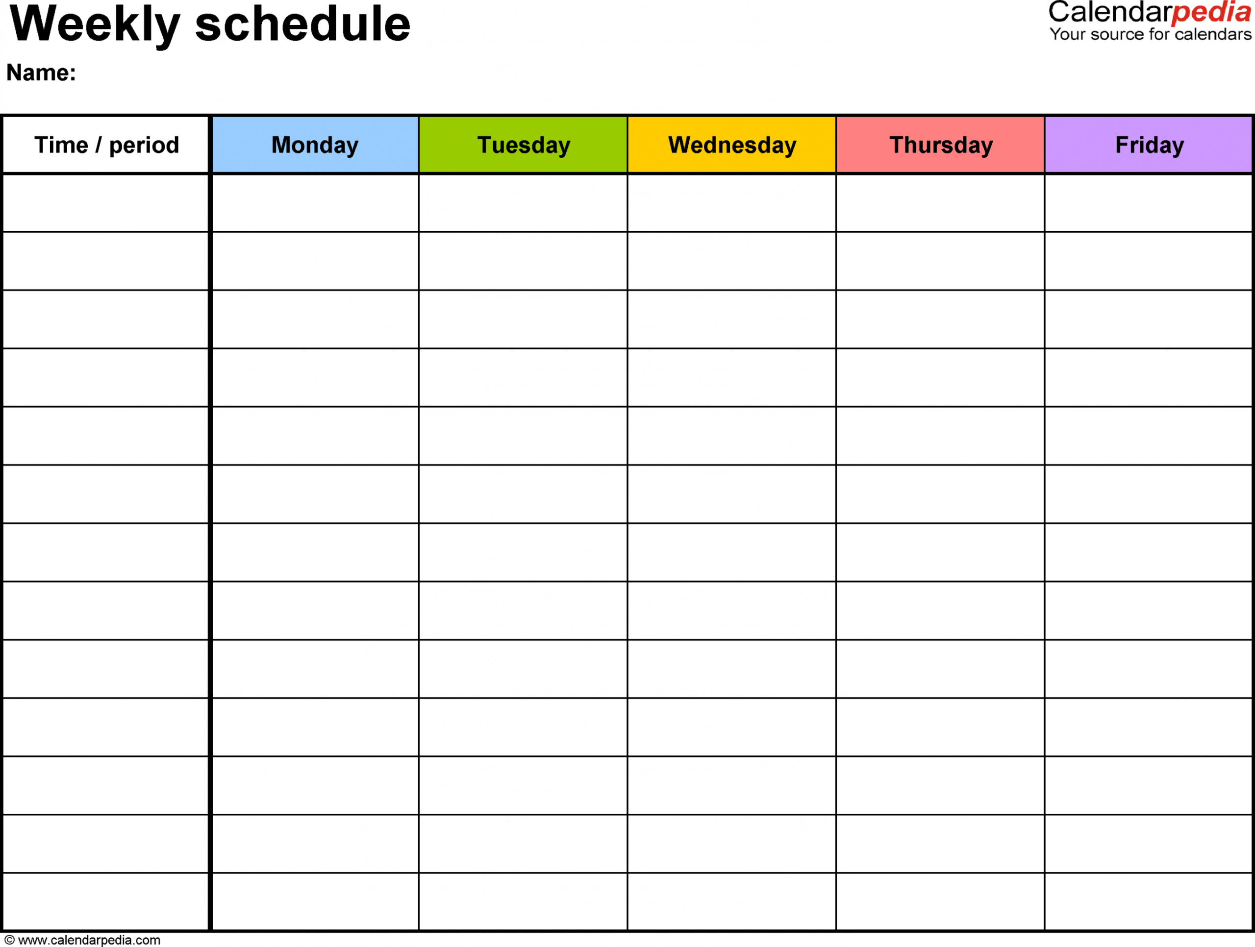 editable free weekly schedule templates for excel  18 templates weekly checklist template excel