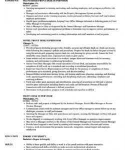 editable front desk supervisor resume samples  velvet jobs front desk checklist template pdf