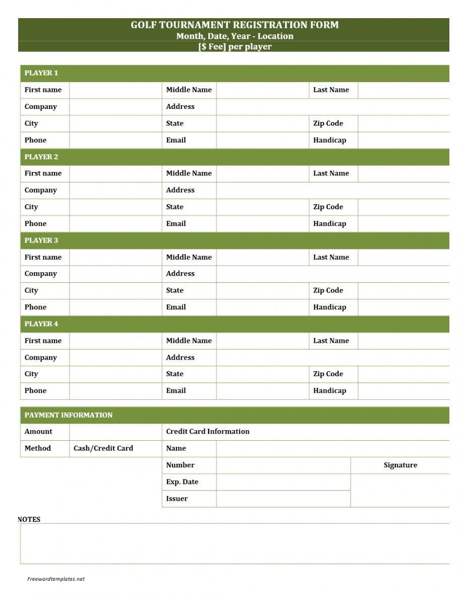 editable golf tournament registration form golf tournament checklist template