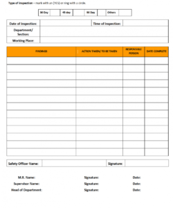 editable nc safety inspection checklist officer template samples safety inspection checklist template samples