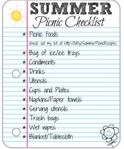 editable picnic checklist printable church planning template beach samples company picnic checklist template doc