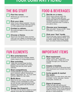 editable planning your company picnic   work ideas in 2019  company company picnic checklist template