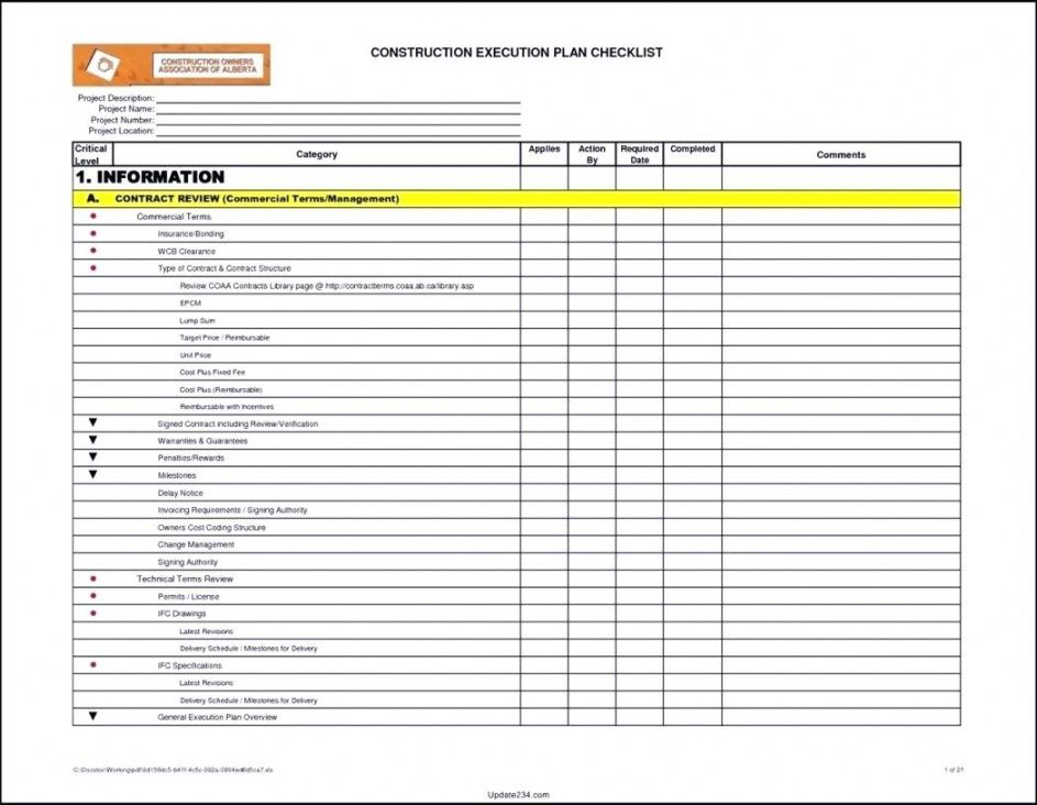 editable project handover checklist template software closeout nt construction project checklist template pdf