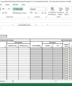 editable quantitative risk analysis excel template  engineering management it risk analysis template pdf