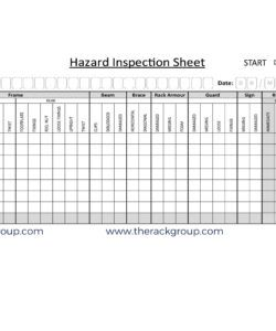 editable sema inspection archives  rack inspection racking inspection checklist template examples