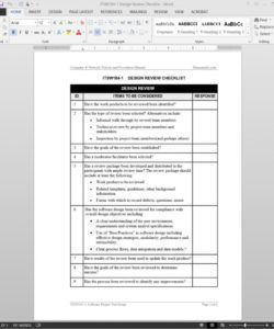 editable software design review checklist template software installation checklist template excel