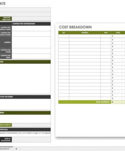 editable the master guide to construction bidding  smartsheet construction bid checklist template excel