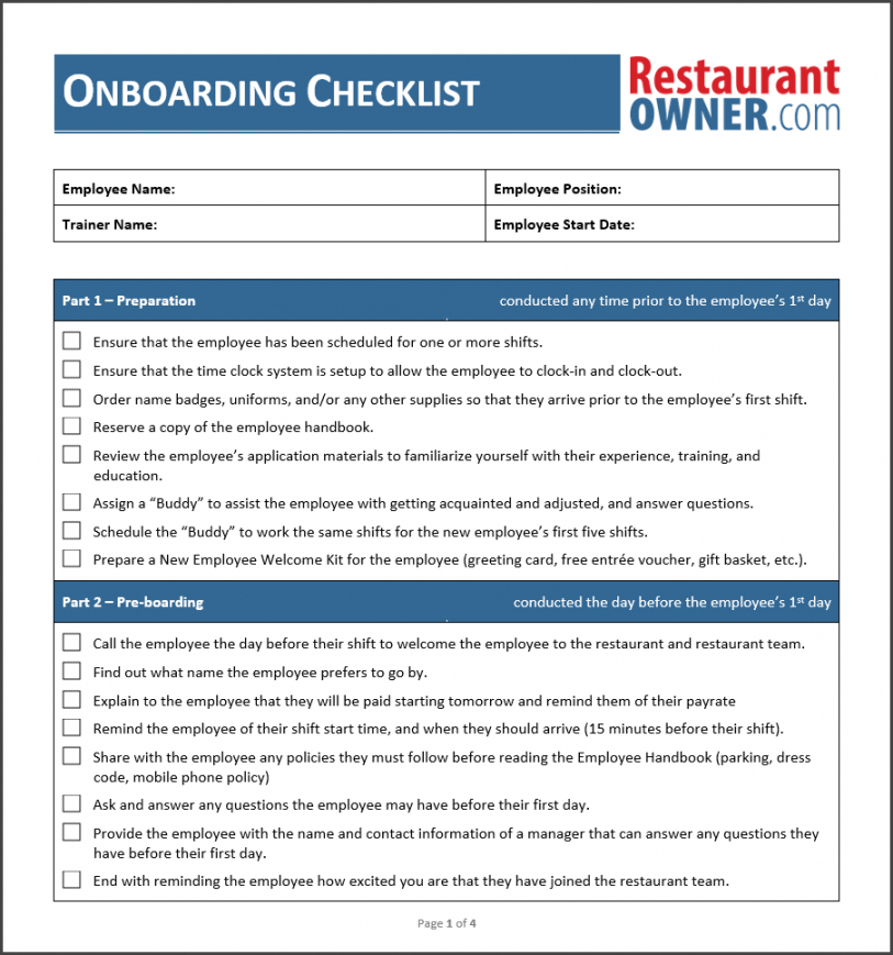 employee onboarding checklist new template  martinforfreedom onboarding checklist template pdf