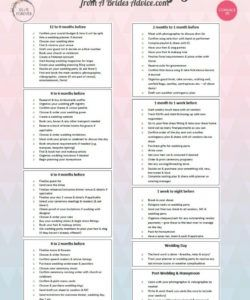 fabulous wedding planning guide free timeline checklist template wedding timeline checklist template samples