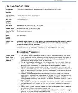 fire evacuation plan template  free and customisable template fire evacuation checklist template pdf