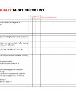 free 15 internal audit checklist templates  samples examples formats environmental audit checklist template pdf
