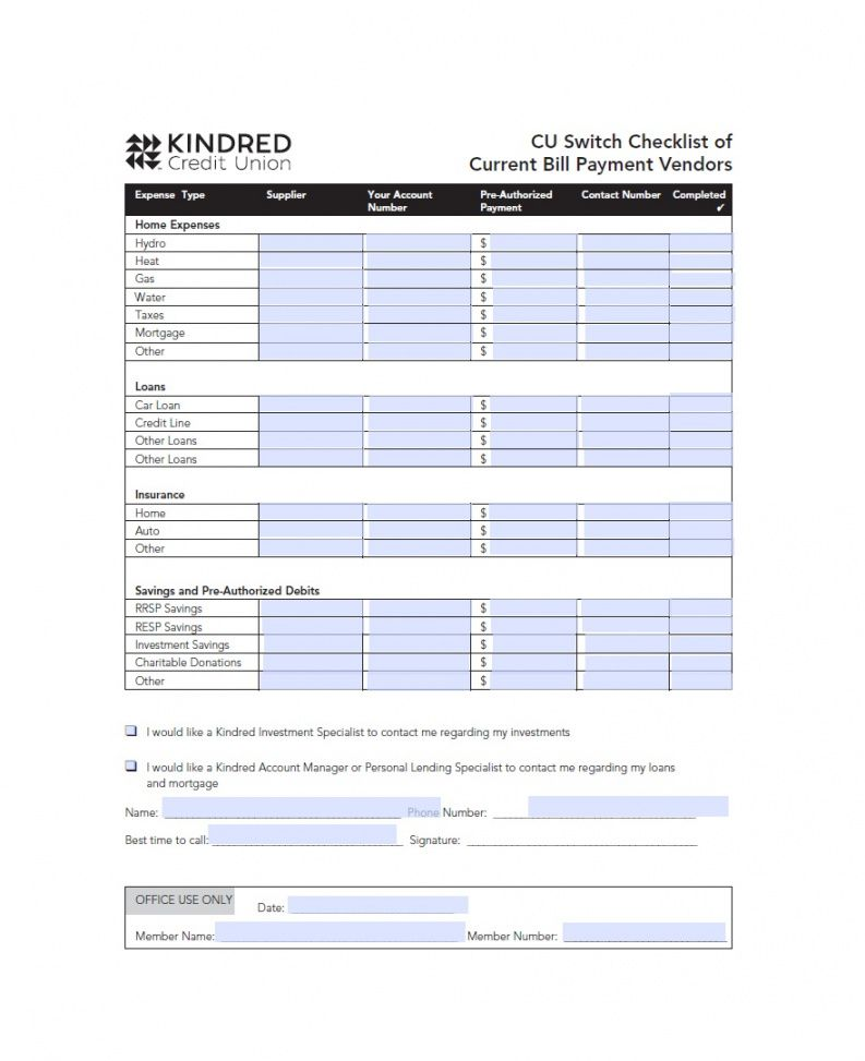 free 32 free bill pay checklists & bill calendars pdf word & excel bill payment checklist template excel