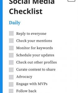 free a daily weekly monthly social media checklist social media checklist template examples