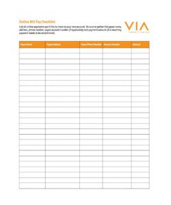 free bill pay checklists calendars pdf word excel printable payment checklist template doc