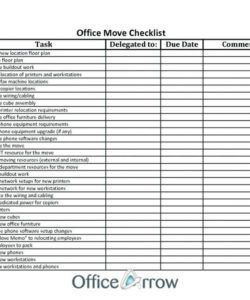 free checklist template samples office ve relocation for staff free office relocation checklist template pdf