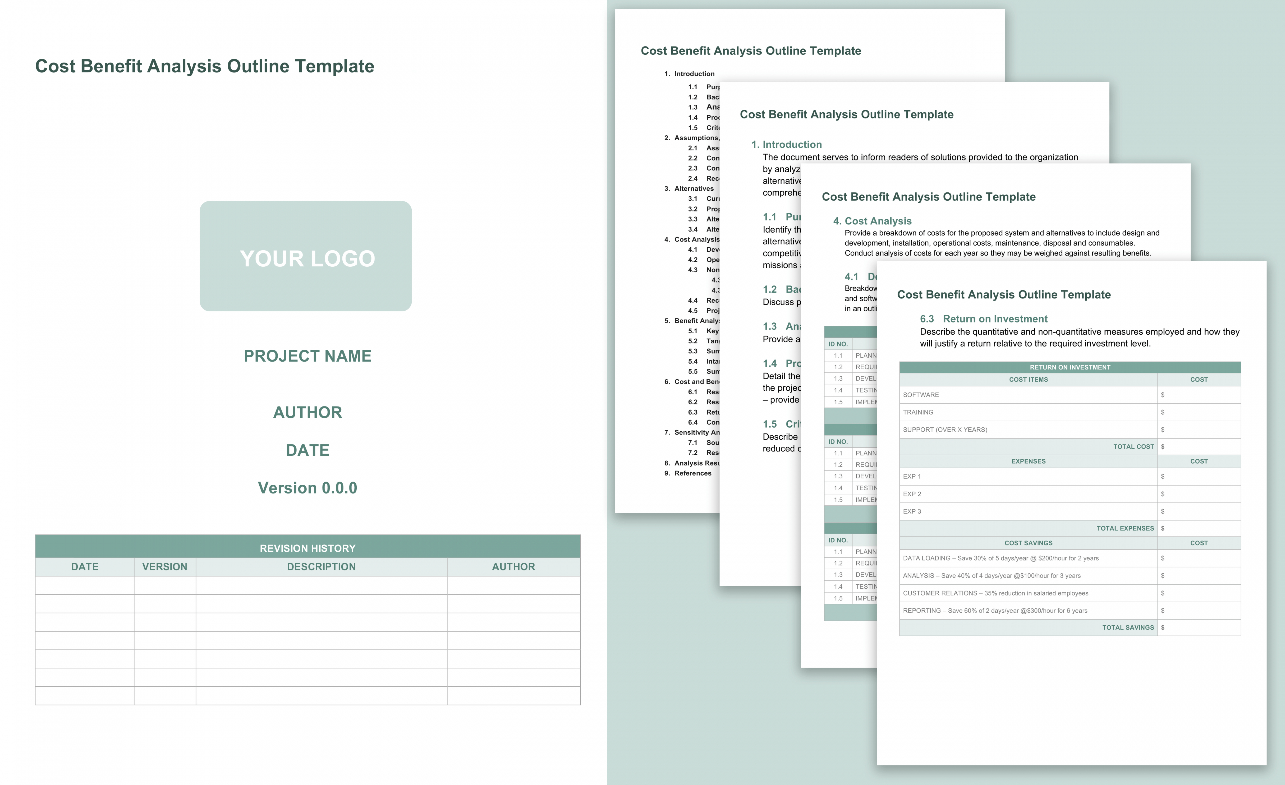 free cost benefit analysis templates smartsheet food cost analysis template doc