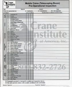 free crane ion checklist template samples telescopic boom pre operational crane inspection checklist template excel