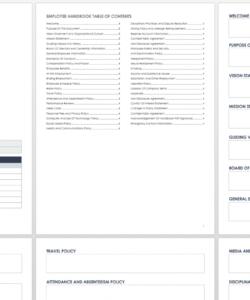 free employee and company handbook templates  smartsheet employee handbook checklist template doc
