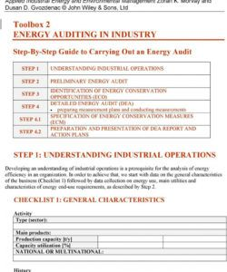 free energy efficiency audit checklist toolbox auditing in industry pdf energy audit checklist template pdf
