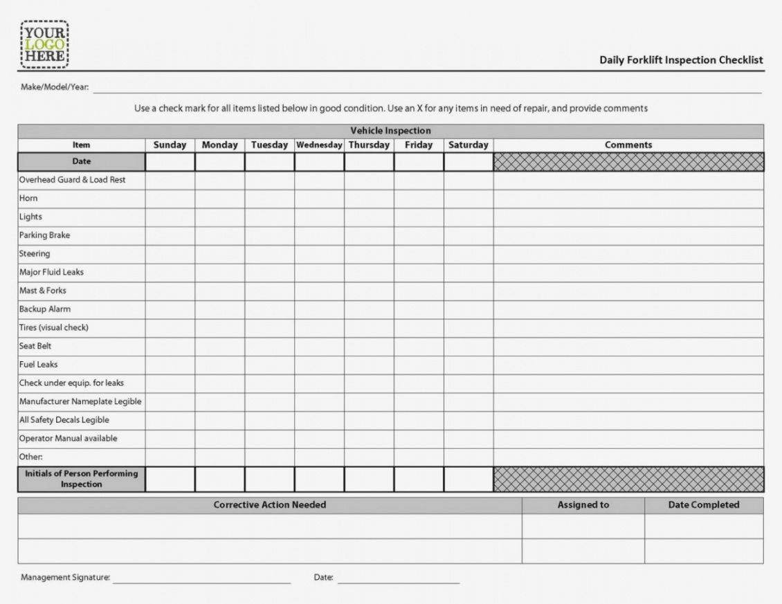 free forklift inspection forms osha  resume examples  osha equipment forklift safety checklist template