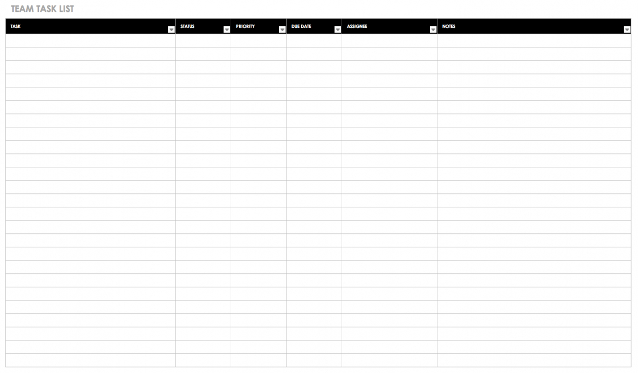 free free task and checklist templates  smartsheet employee daily task checklist template